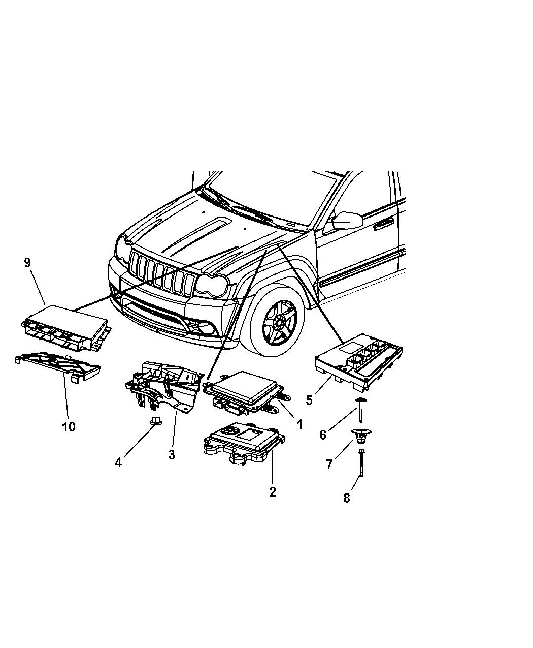 Jeep Commander Modules Engine Compartment