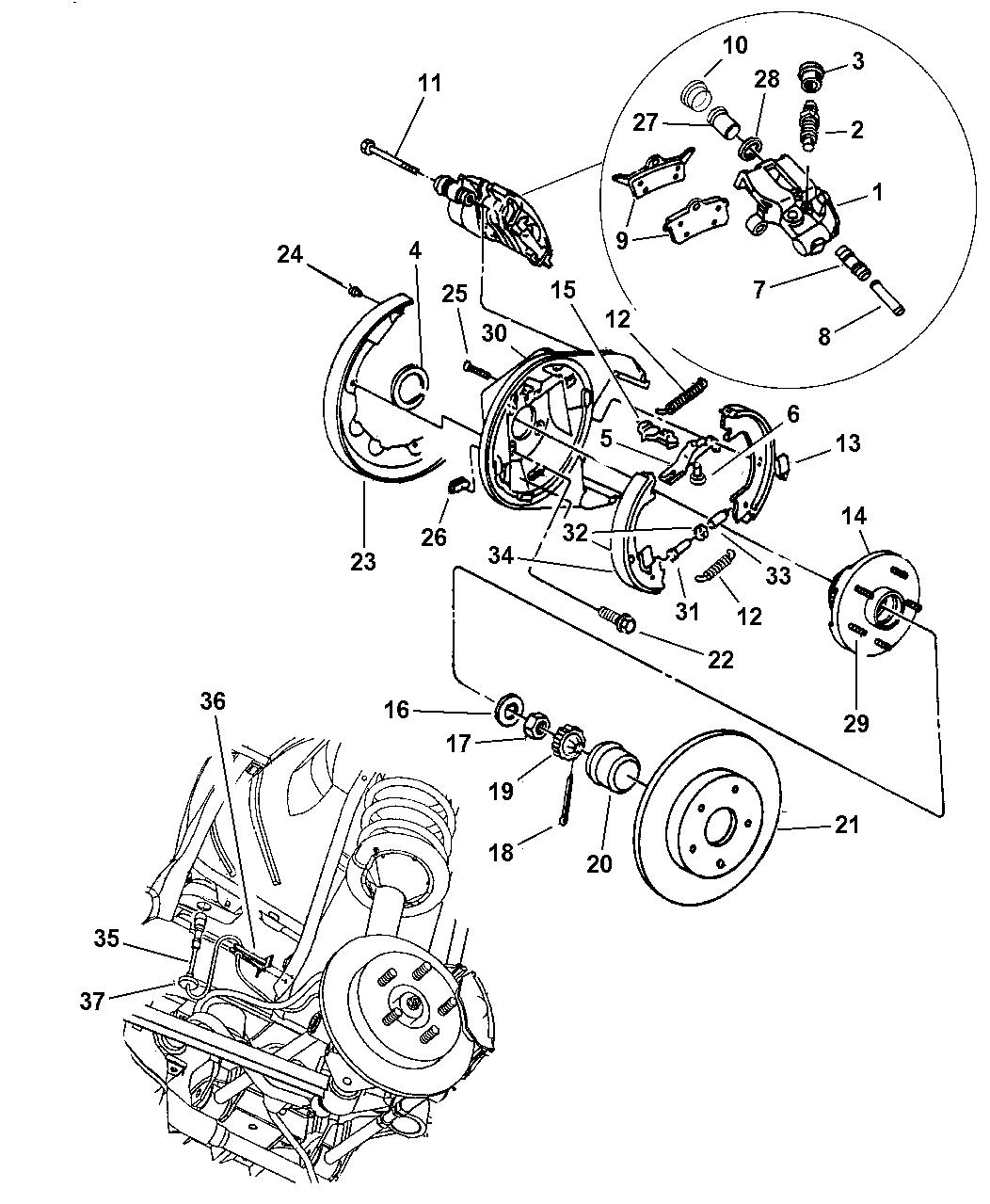 Dodge Intrepid Brakes Rear Disc