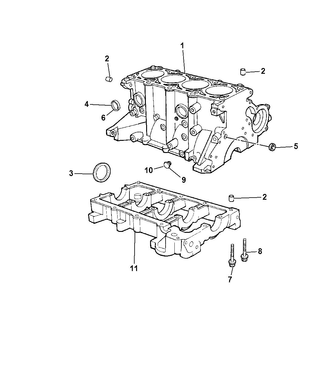 Chrysler Pt Cruiser Engine Cylinder Block Amp Hardware