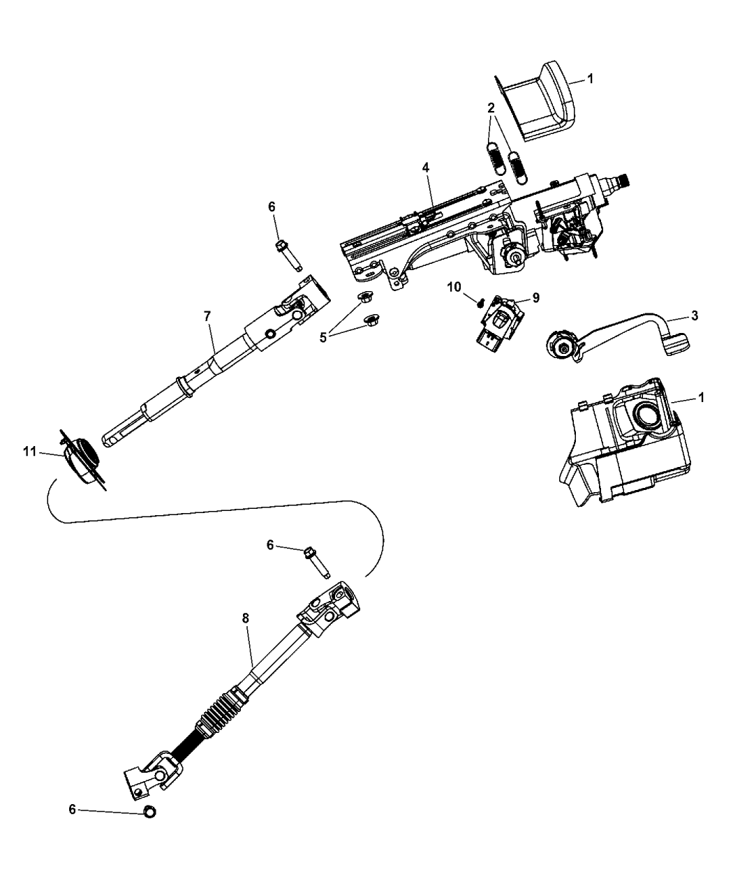 Jeep Wrangler Steering Column