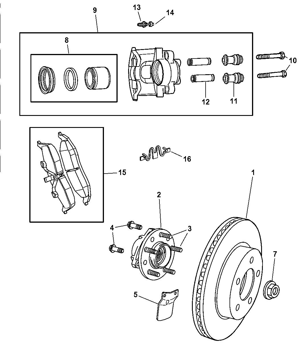 Dodge Intrepid Front Brakes
