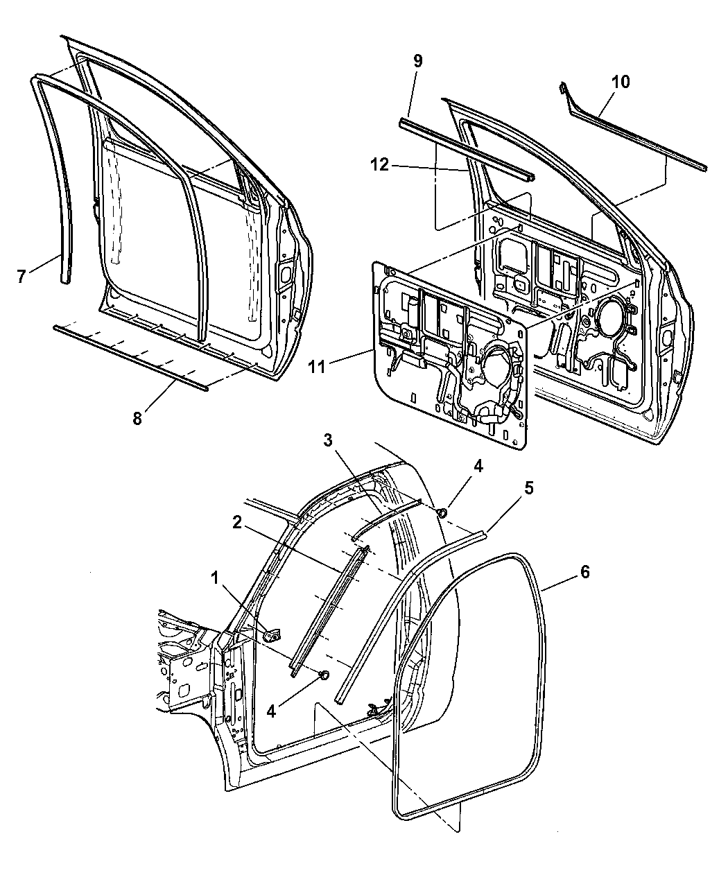Dodge Ram Weatherstrips