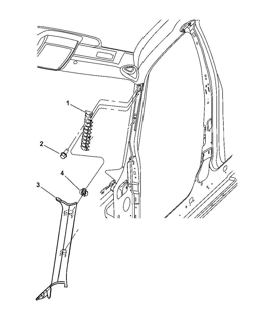 Dodge Magnum Molding