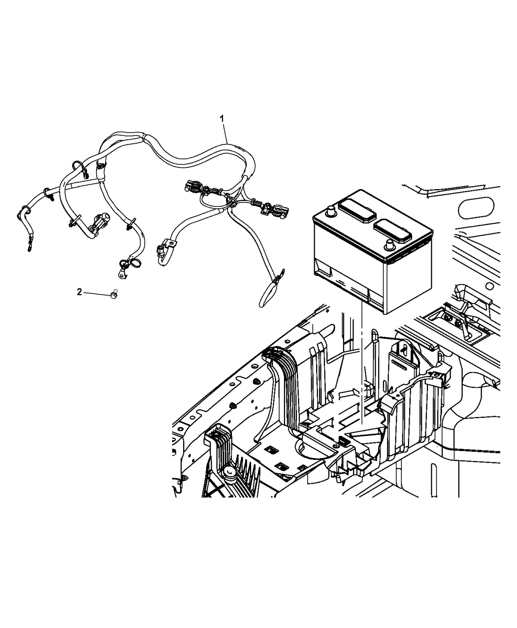 Jeep Wrangler Battery Wiring