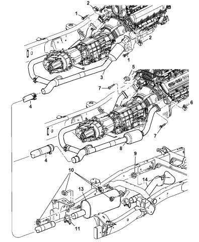 exhaust system 2007 dodge ram 1500