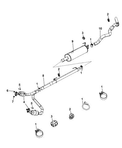exhaust system 2010 dodge ram 1500