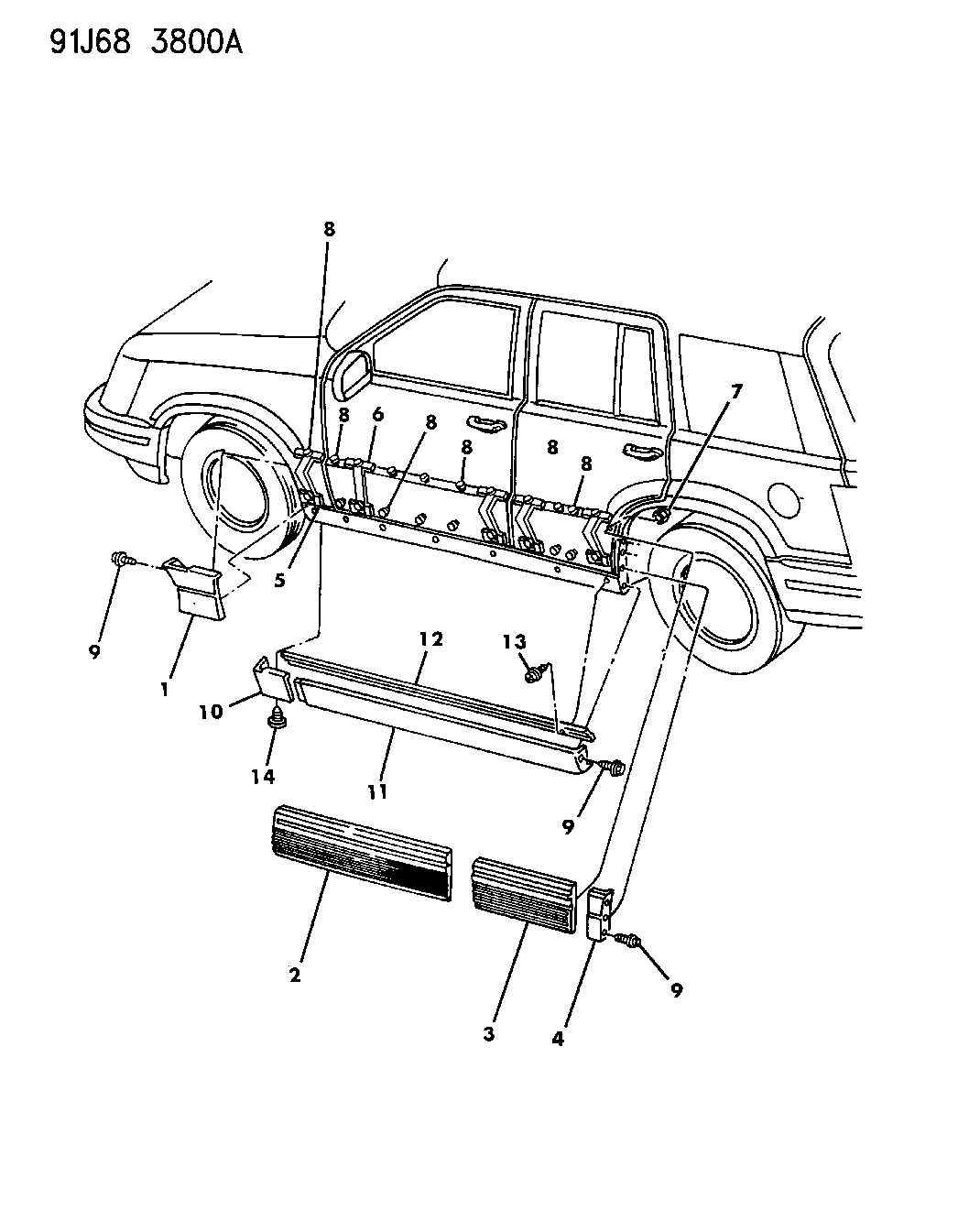Jeep Grand Cherokee Retainer Left Cladding