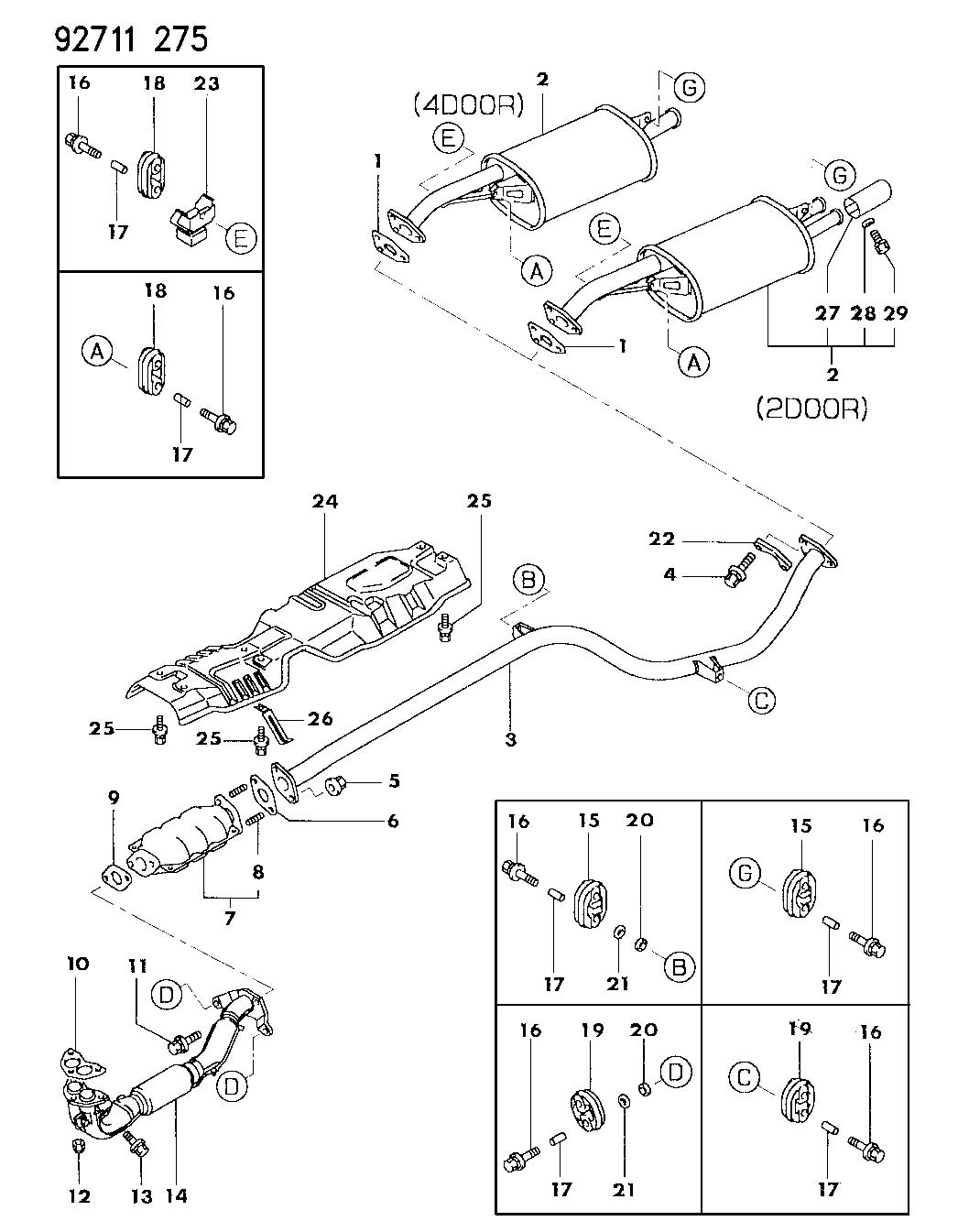 Dodge Colt Gasket Converter To Pipe Exhaust System
