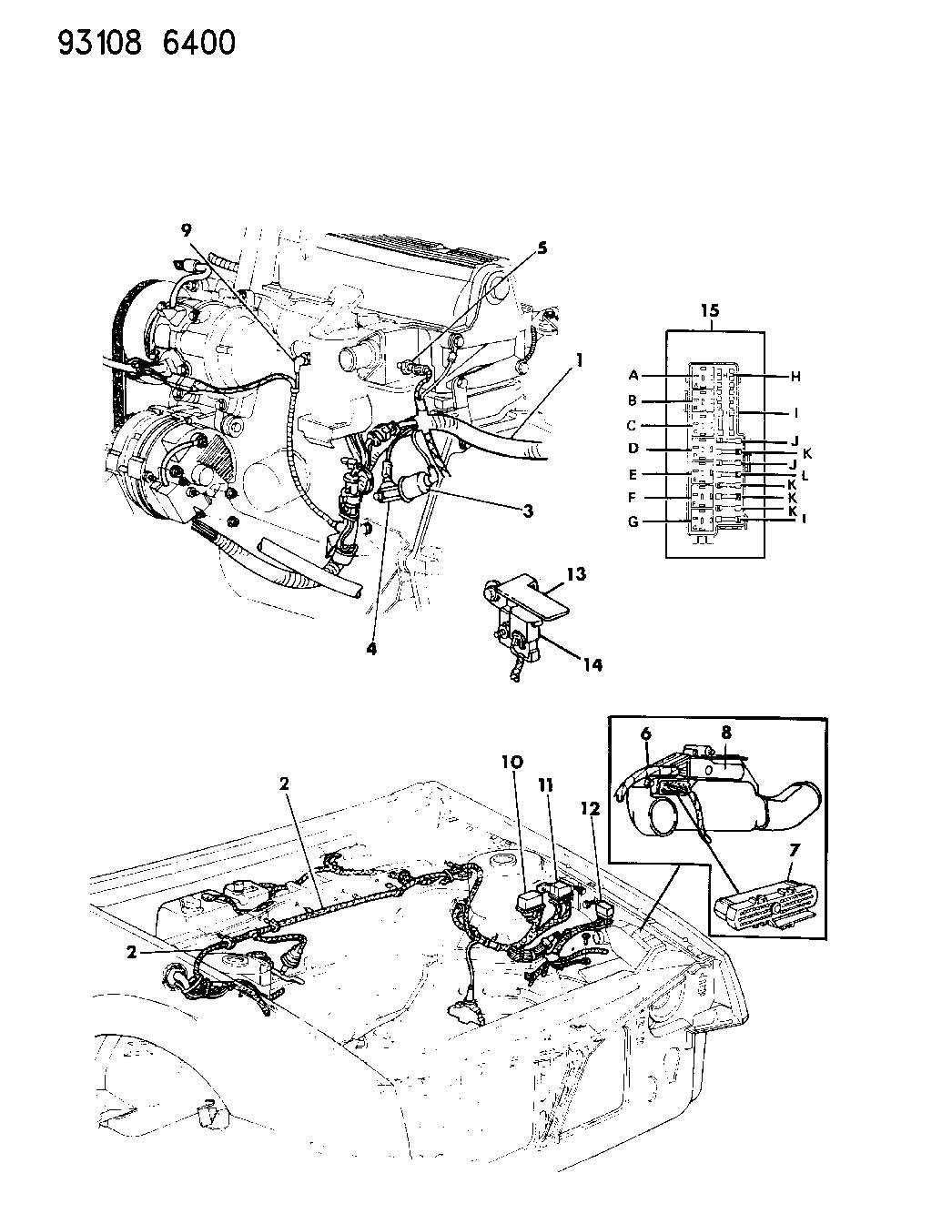 Chrysler Sebring Sensor Coolant Temperature Body Engine