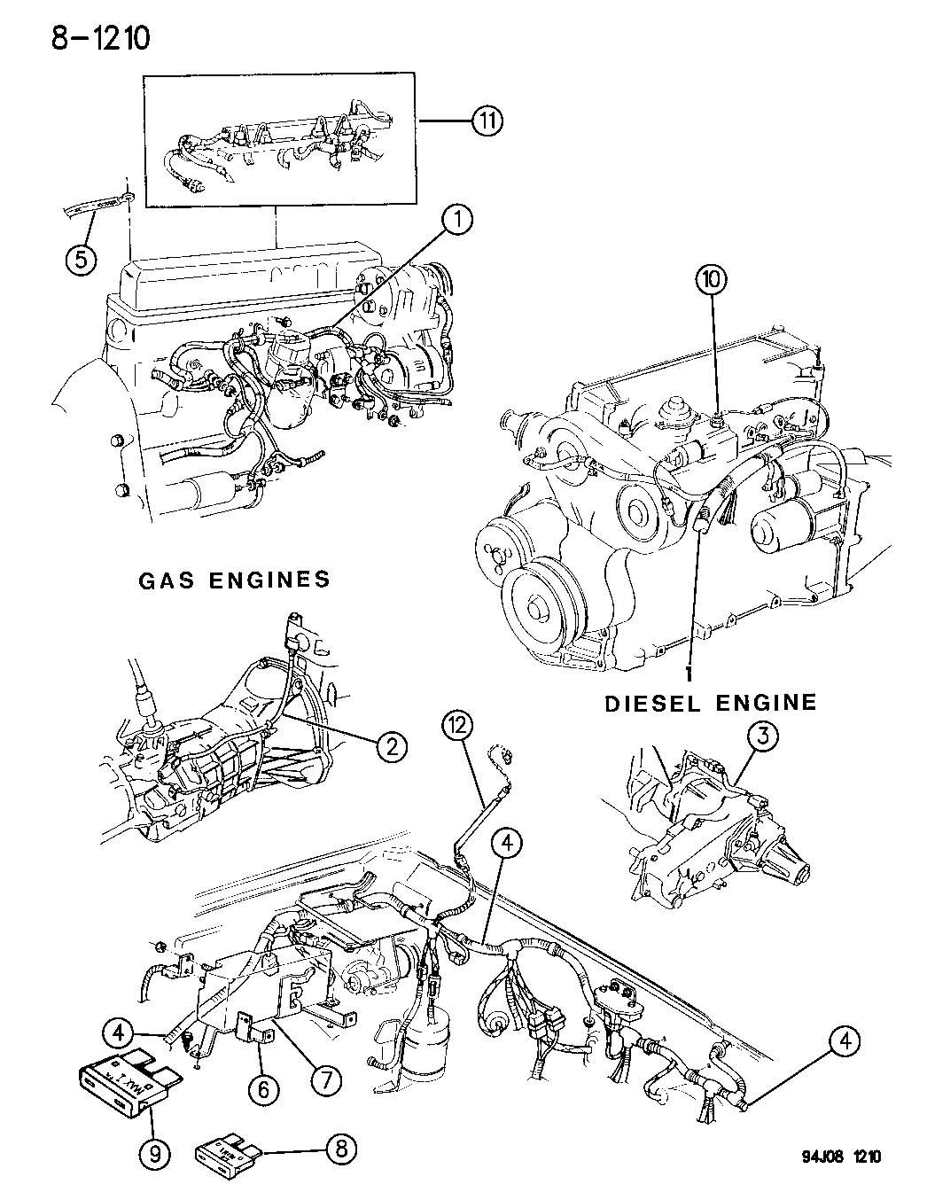 Dodge Grand Caravan Fuse Abs Pump Motor Blower Motor