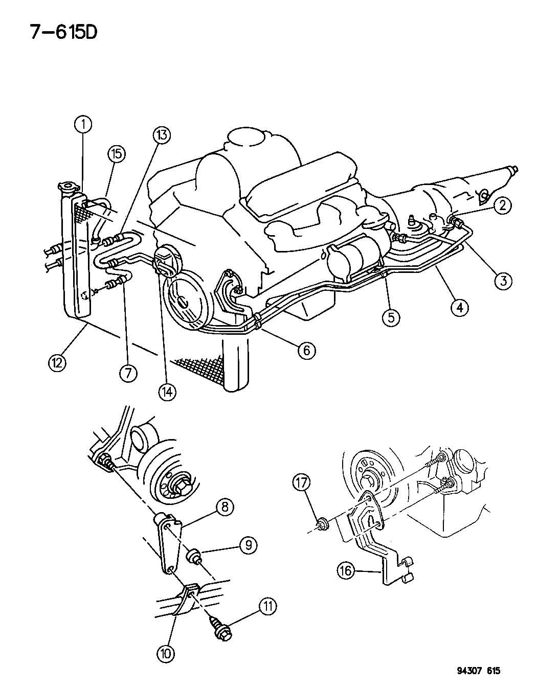 Dodge Ram 150 250 350 Connector Oil Cooler Tube Case Relatedsel