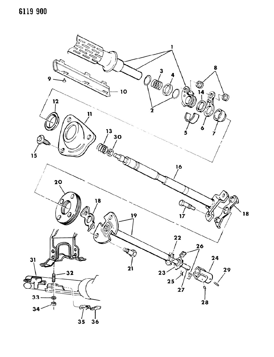 Dodge Ram Van Ram Wagon Bearing Steering Column