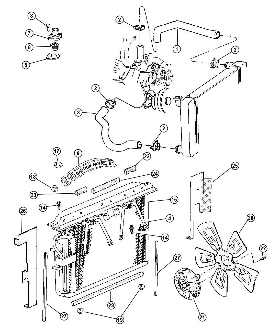 Jeep Grand Cherokee Hose Radiator Inlet Radiator Inlet Without Maximum Duty Engine