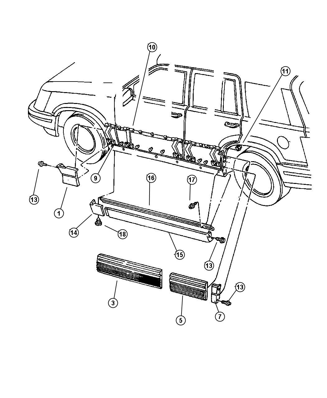 Jeep Grand Cherokee Cladding Quarter Panel Right