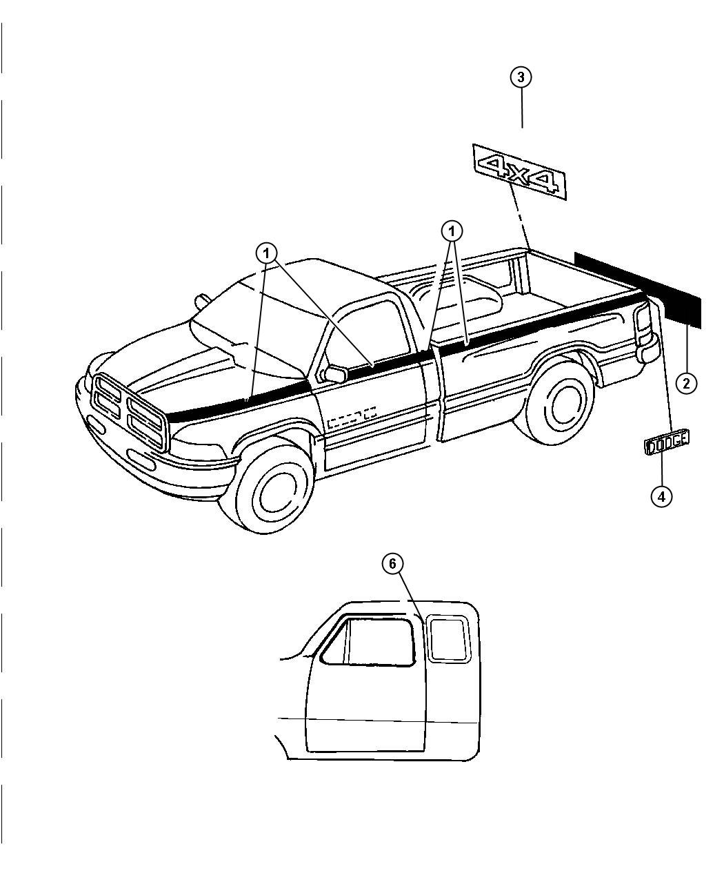 Dodge Ram Decal 4 X 4 Sport Tailgate