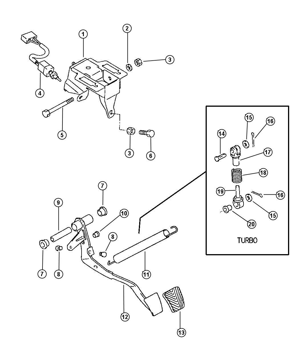 Dodge Avenger Bushing Used For Clutch And Brake