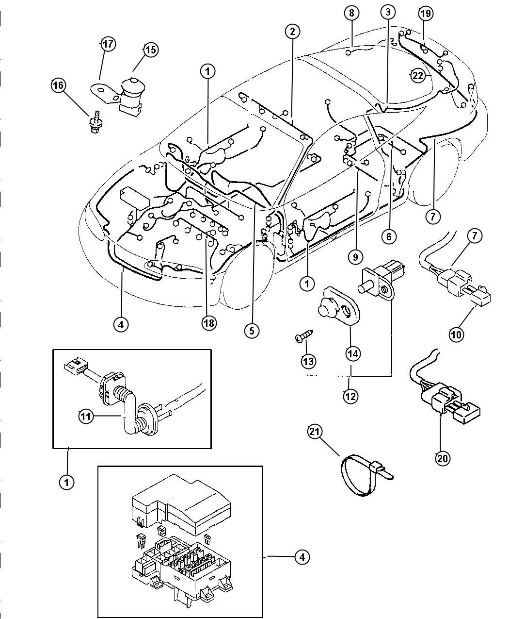Chrysler Sebring Wiring Chassis Front With Keyless