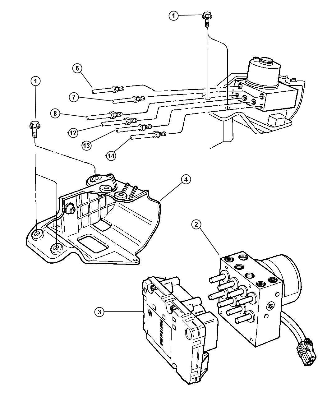 Dodge Grand Caravan Tube Brake Brake Master