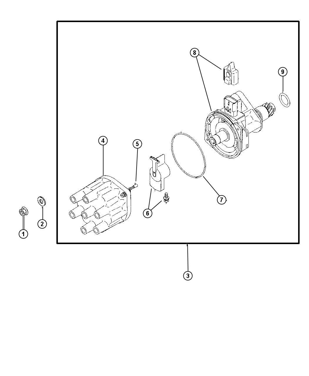 Dodge Rotor Distributor Engine Cylinder