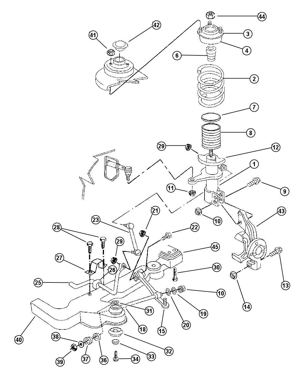 Dodge Ram Strut Front Suspension Tension