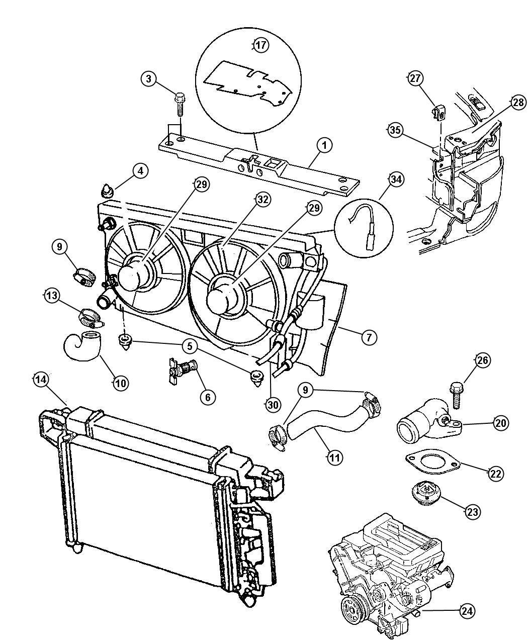 Chrysler Lhs Motor Radiator Fan Right Engine Related