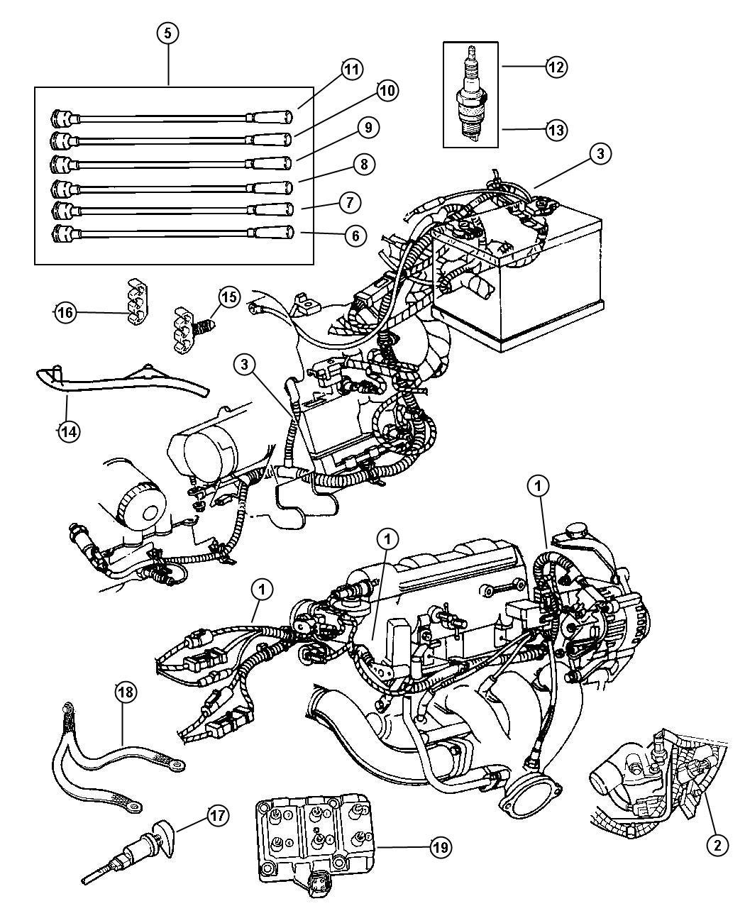 Chrysler Concorde Coil Ignition 6 Cylinder Engine