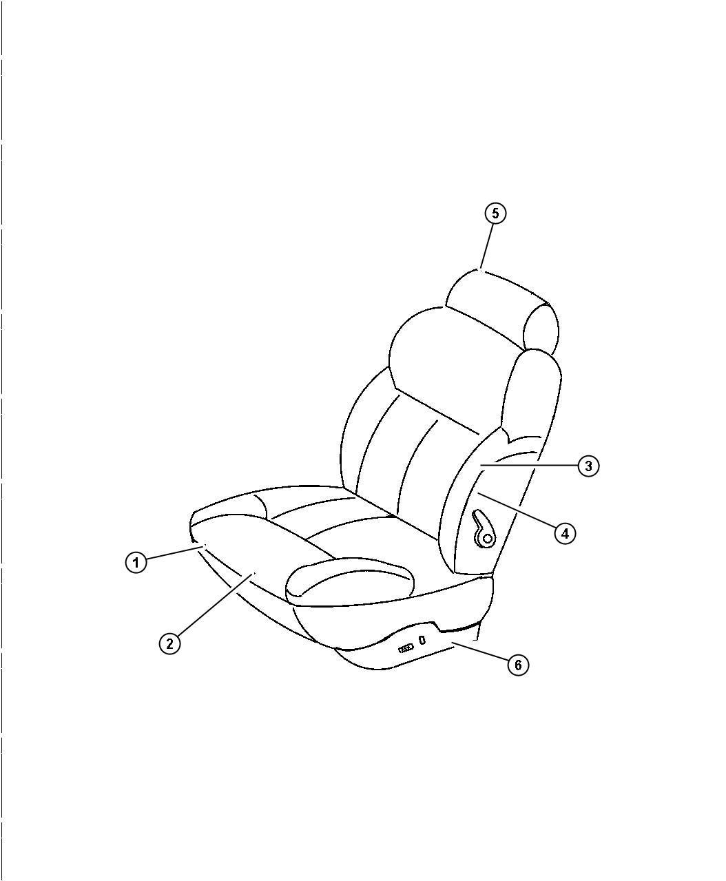 Chrysler Lhs Seat Back Front Right Driftwood Trim