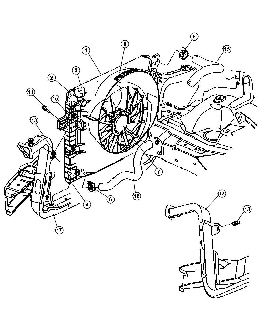 Jeep Grand Cherokee Radiator Engine Cooling Export