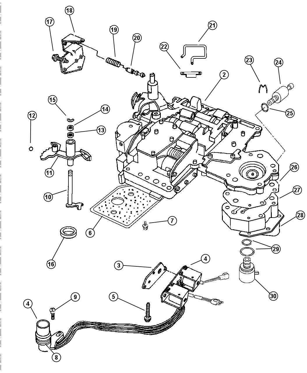 Jeep Grand Cherokee Body Transfer Plate Valve Dgk