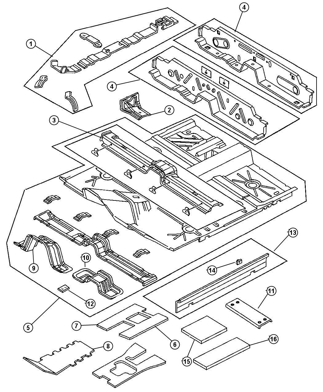Dodge Neon Bracket Floor Console