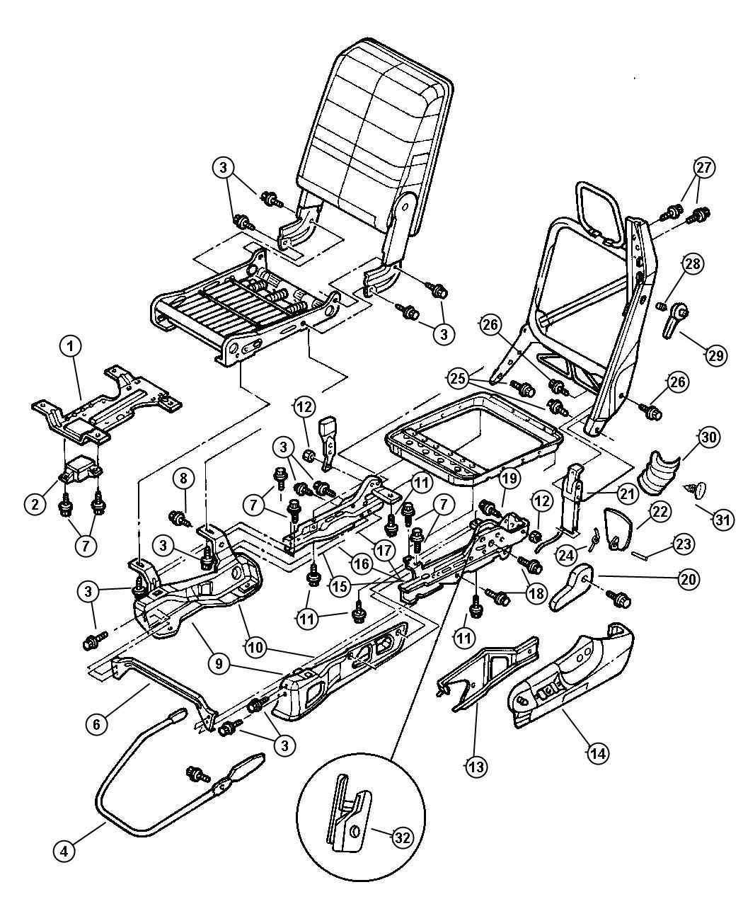 Dodge Ram Module Seat Belt Timer 40 20 40