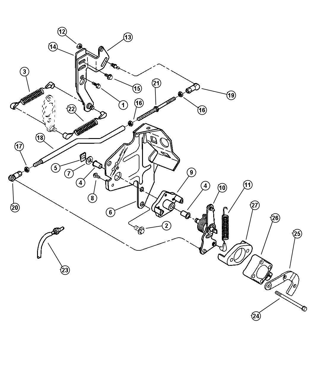 Dodge Sensor Throttle Position Emissions Federal