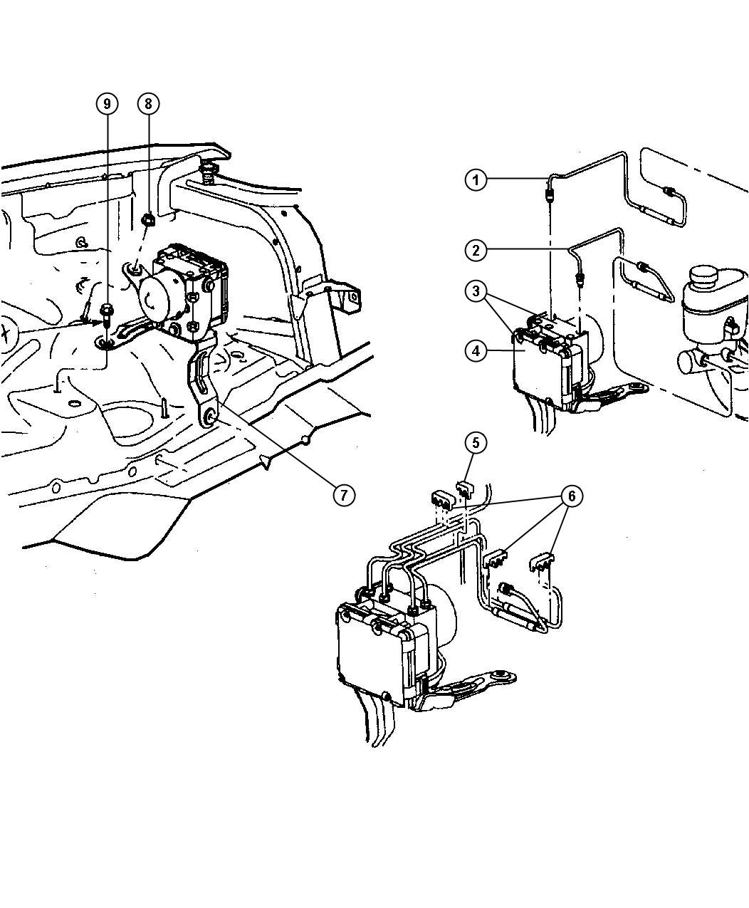 Dodge Viper Control Unit Anti Lock Brake Hydraulic Disc Wheel Brakes