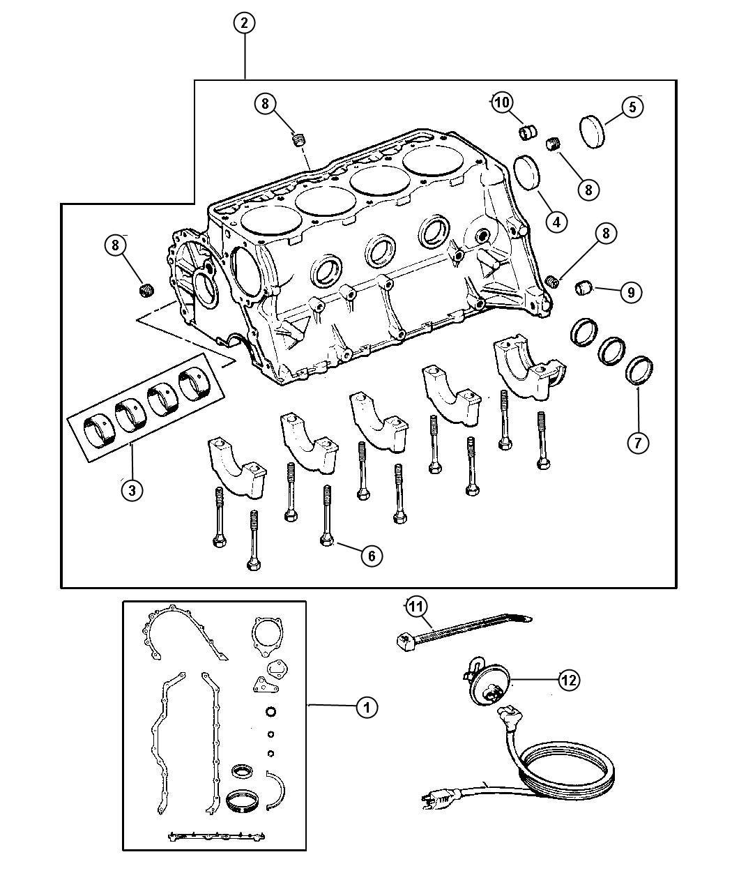 Dodge Avenger Plug Cylinder Block Oil Hole