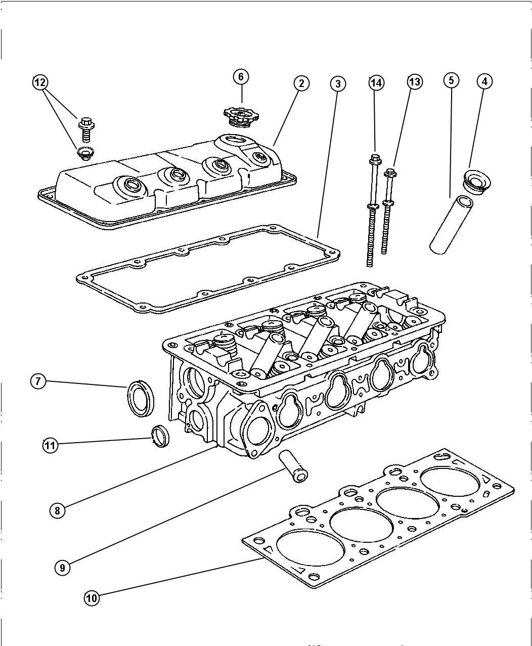 Dodge Charger Gasket Cylinder Cover Plastic