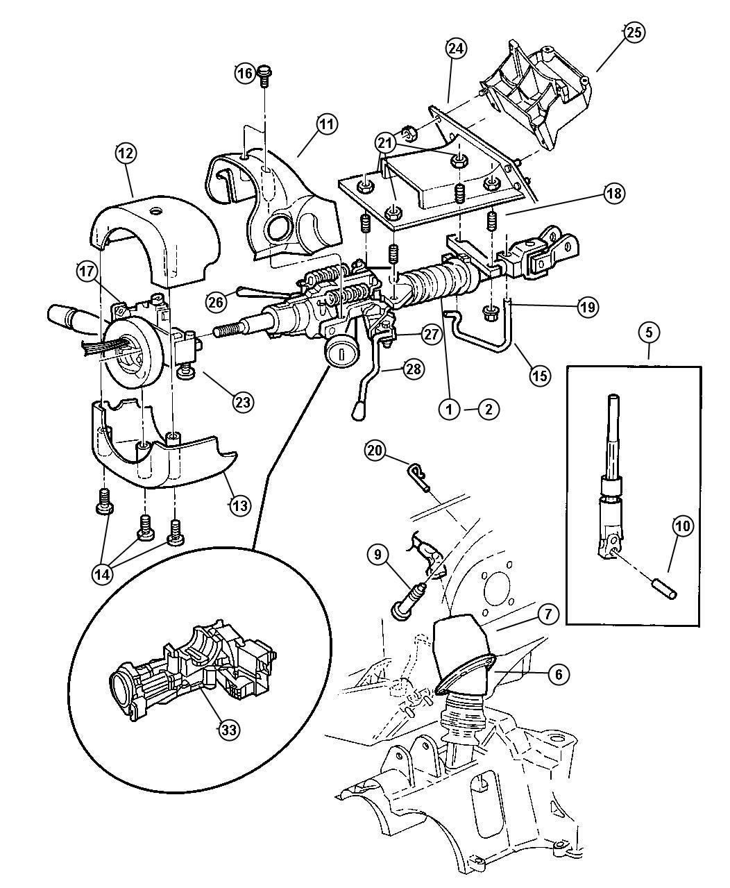 Diagram Jeep Wrangler Steering Column Diagram Full