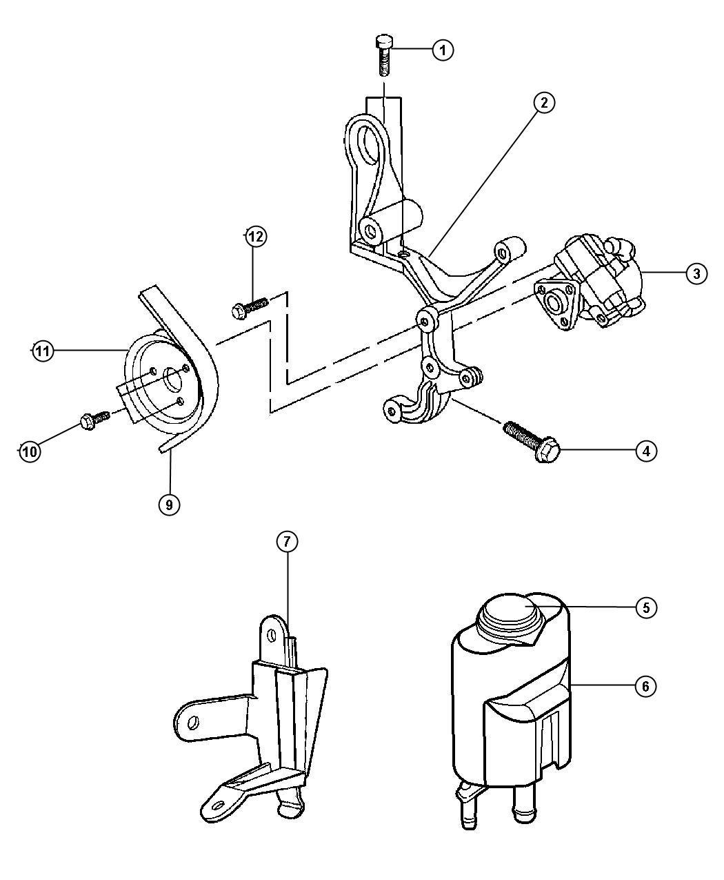 Chrysler Sebring Reservoir Power Steering Fluid