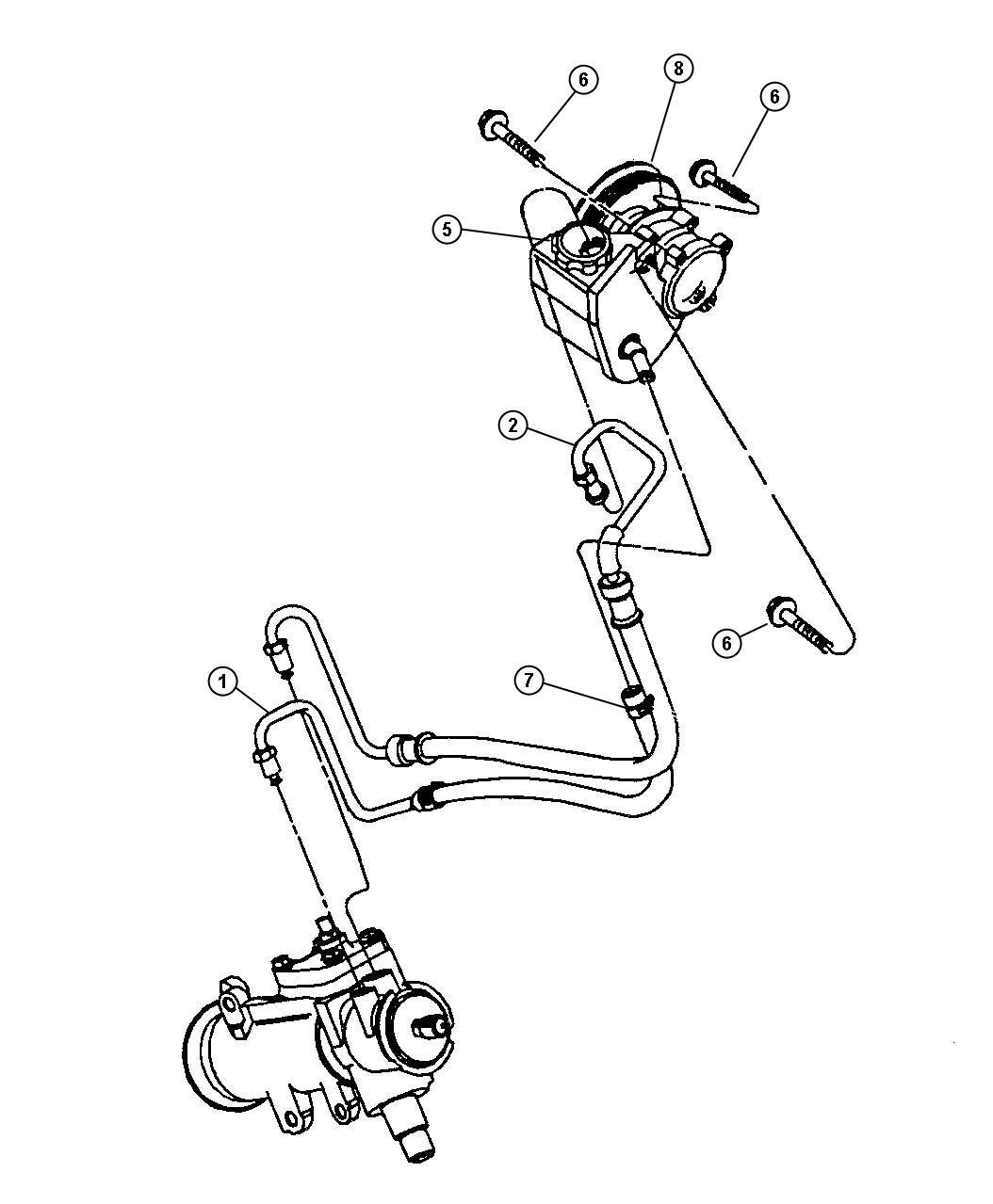 Jeep Wrangler Hose Power Steering Return 4wd Hoses