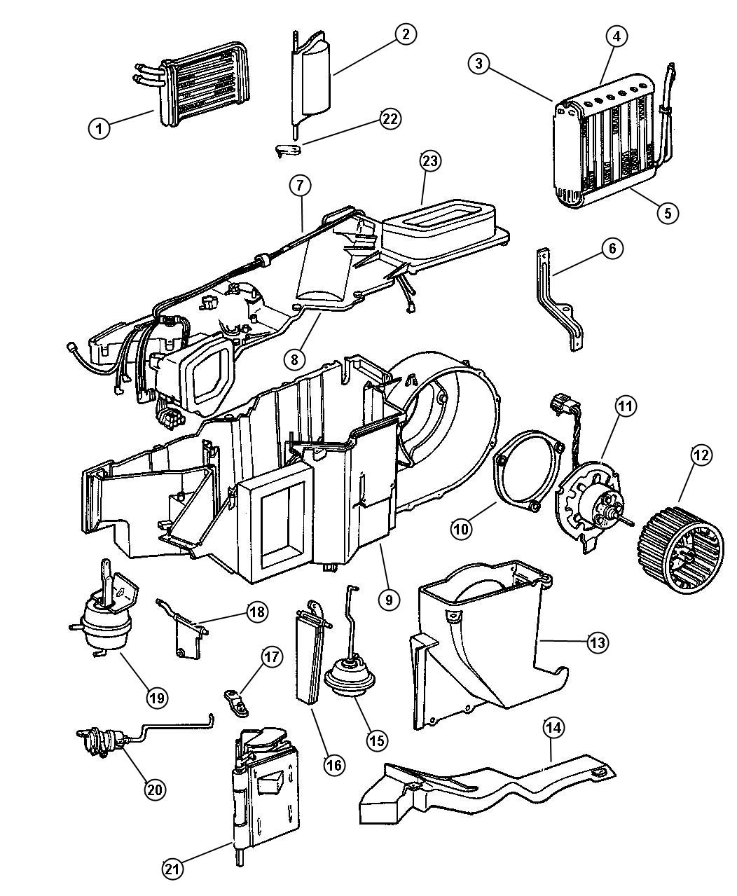 Dodge Dakota Motor Heater Blower Air Conditioning