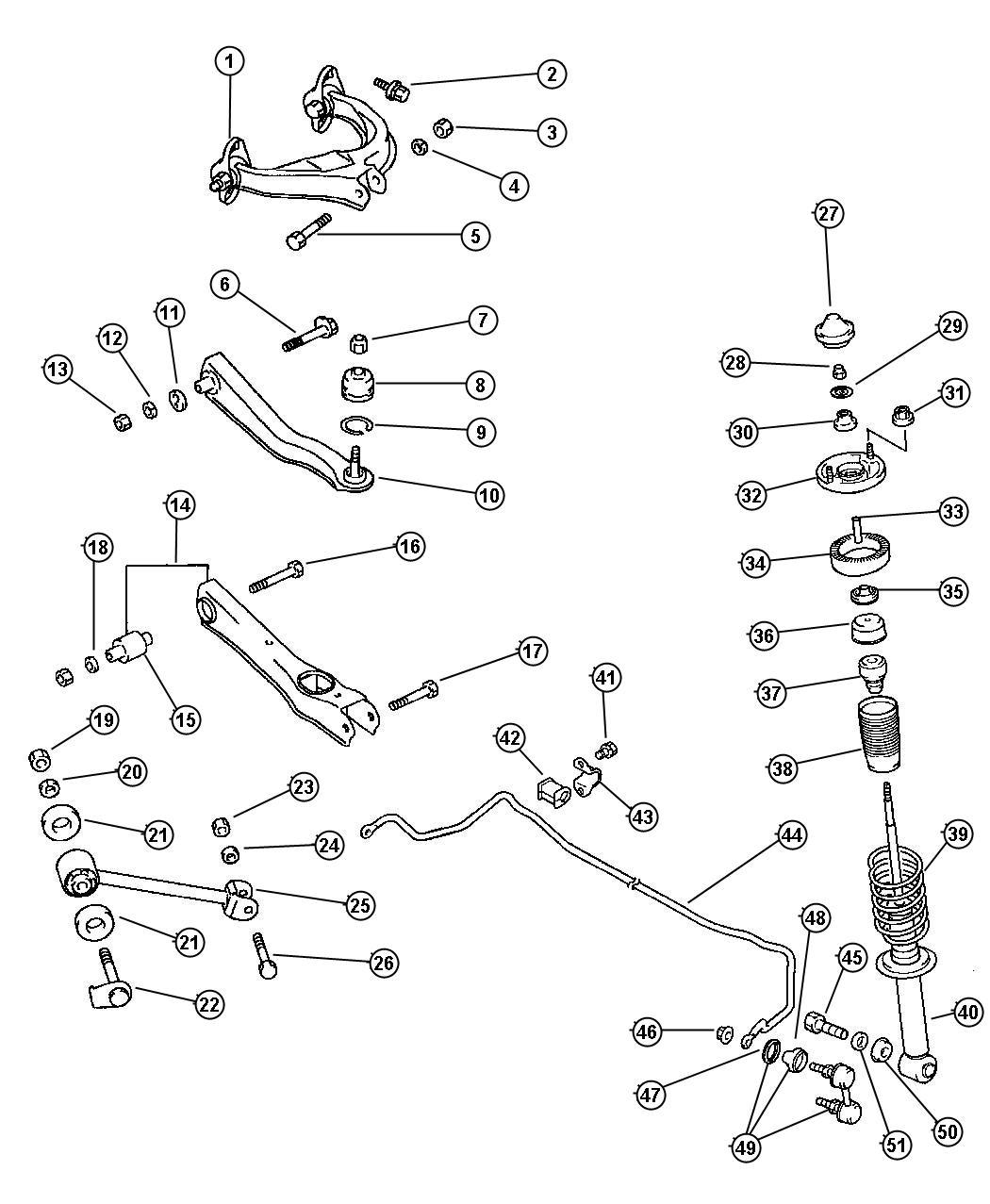 Dodge Avenger Collar Rear Spring Frt Susp Coil