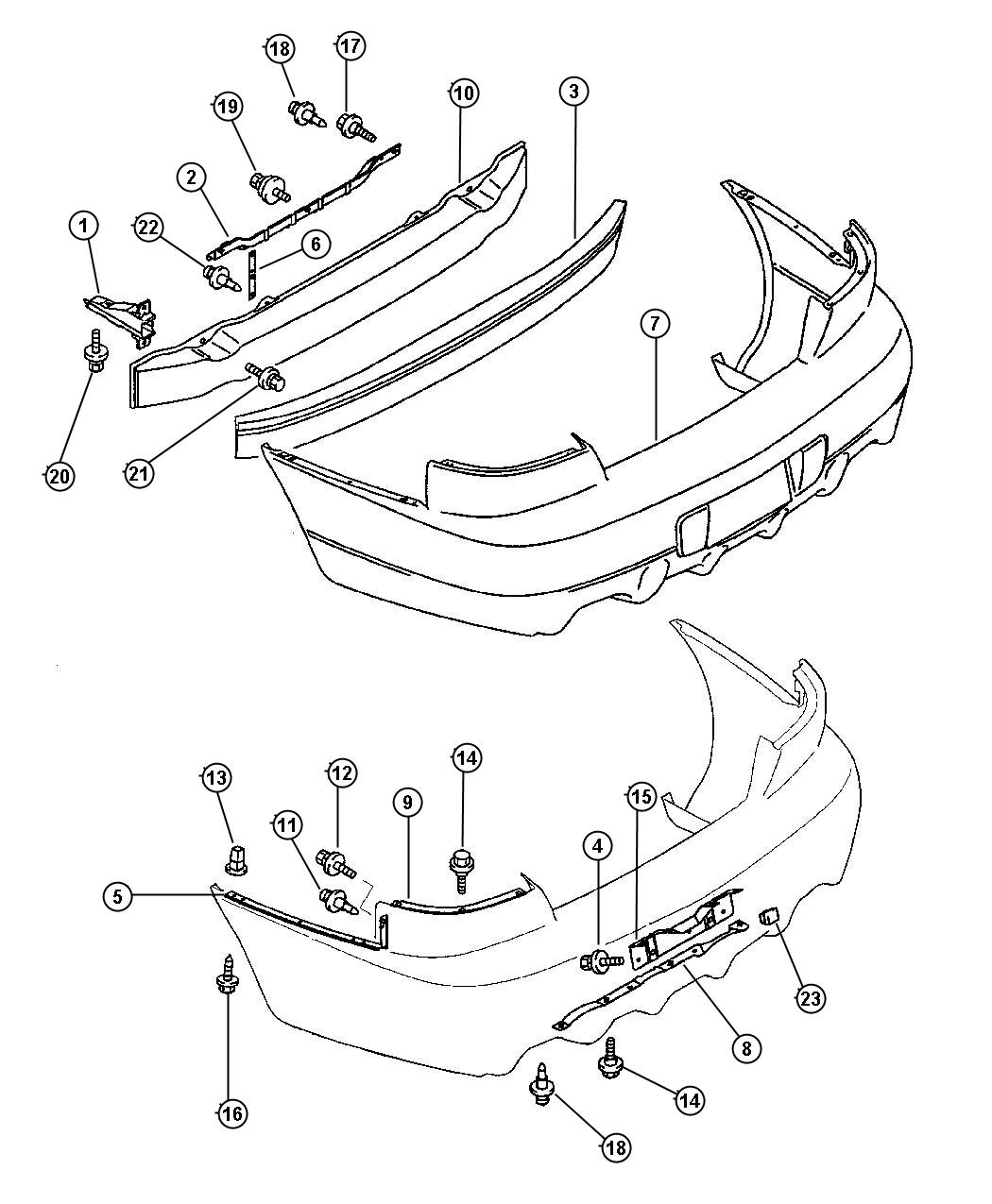 Dodge Avenger Screw Rr Bumper Dodge Shields Rear