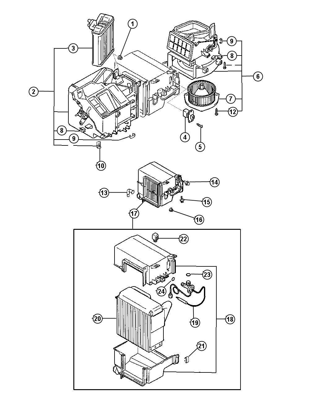 Jeep Grand Cherokee Evaporato Air Conditioning