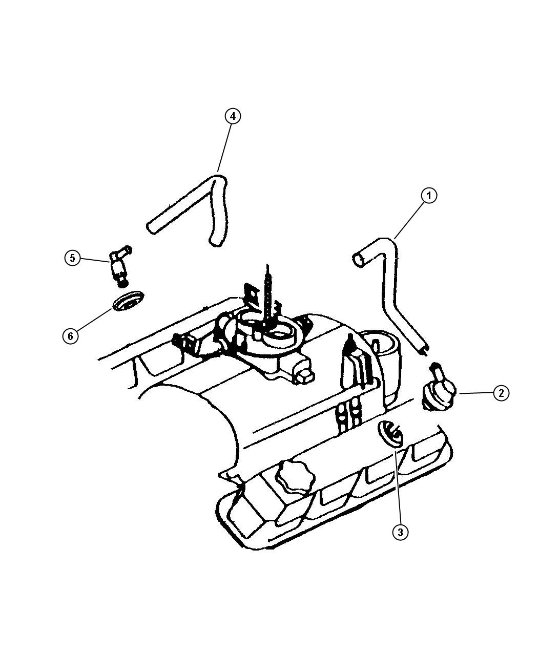 Dodge Intrepid Tube Pcv Valve