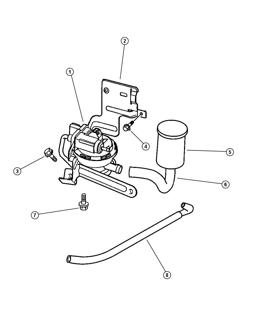 Jeep Wrangler Hose Leak Detection Pump To Canister