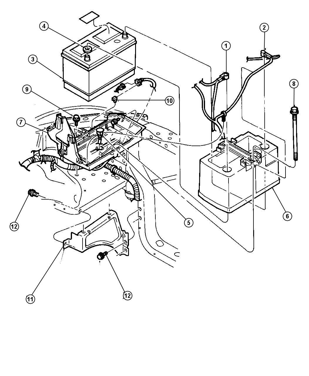 Dodge Dakota Cable Battery Positive 3 9l 2wd