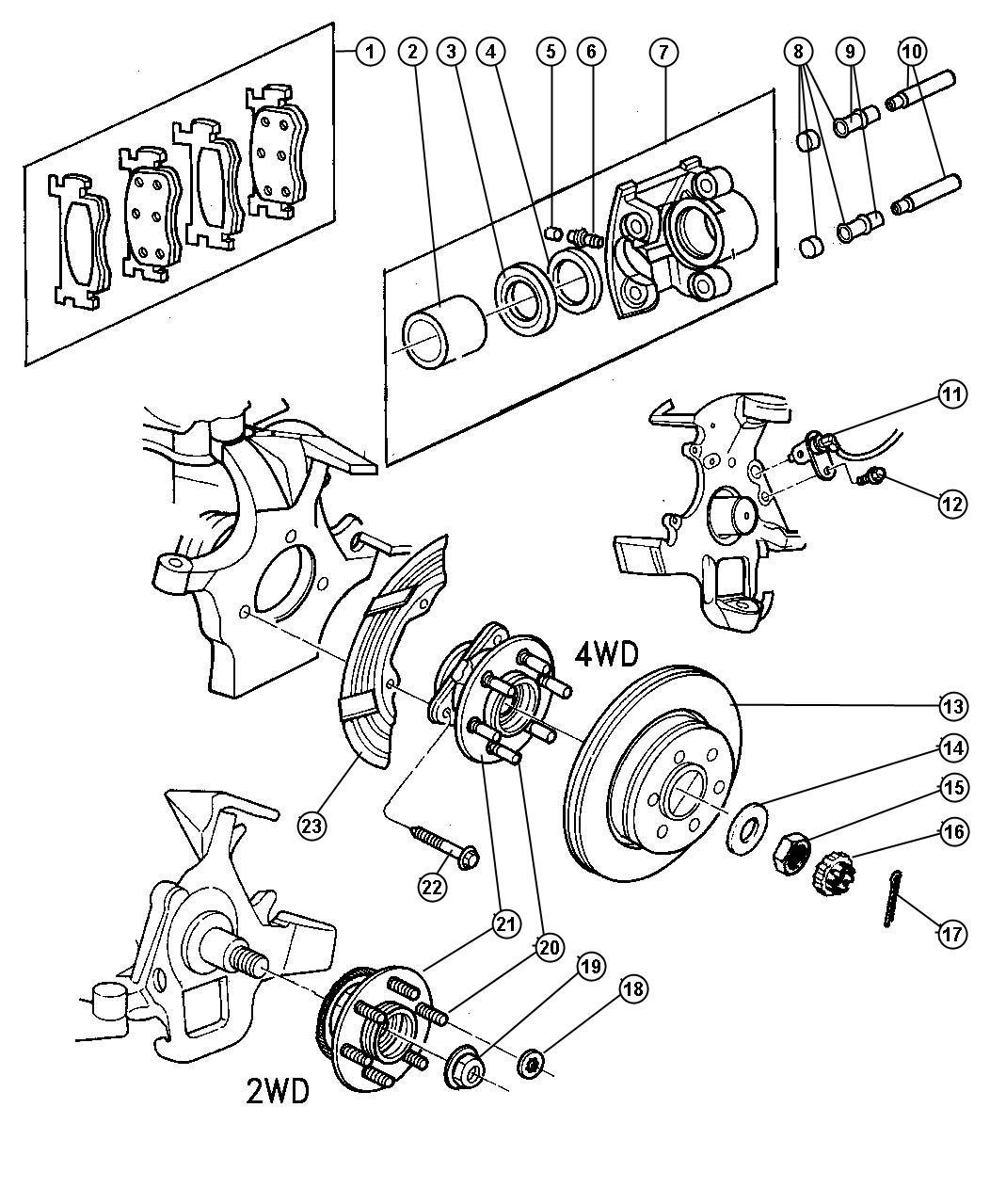 Dodge Dakota Washer Flat M23x43x4 Front Hub To Axle