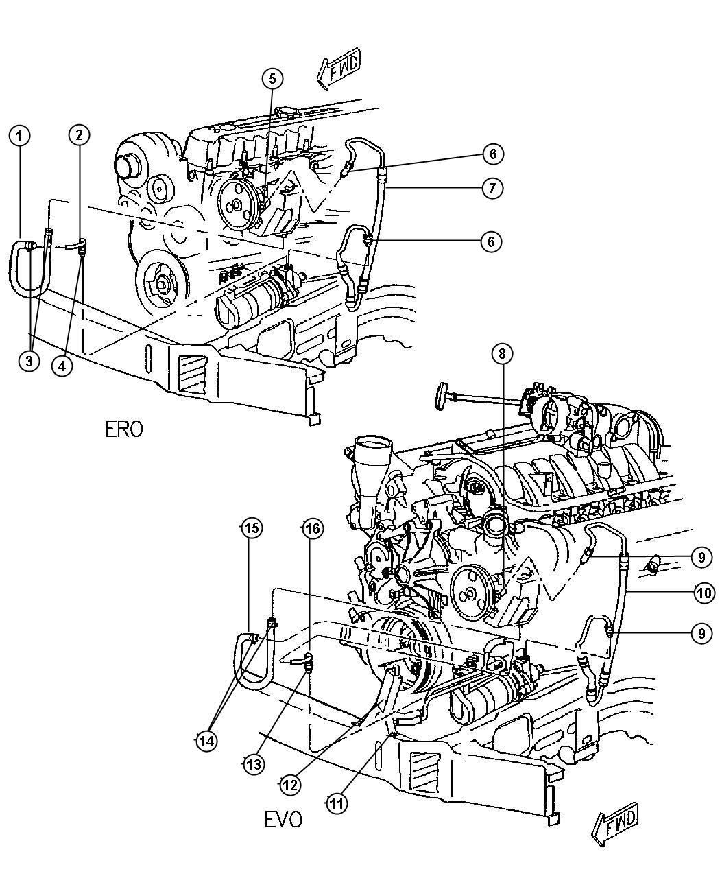 Dodge Caravan Hose Power Steering Pressure