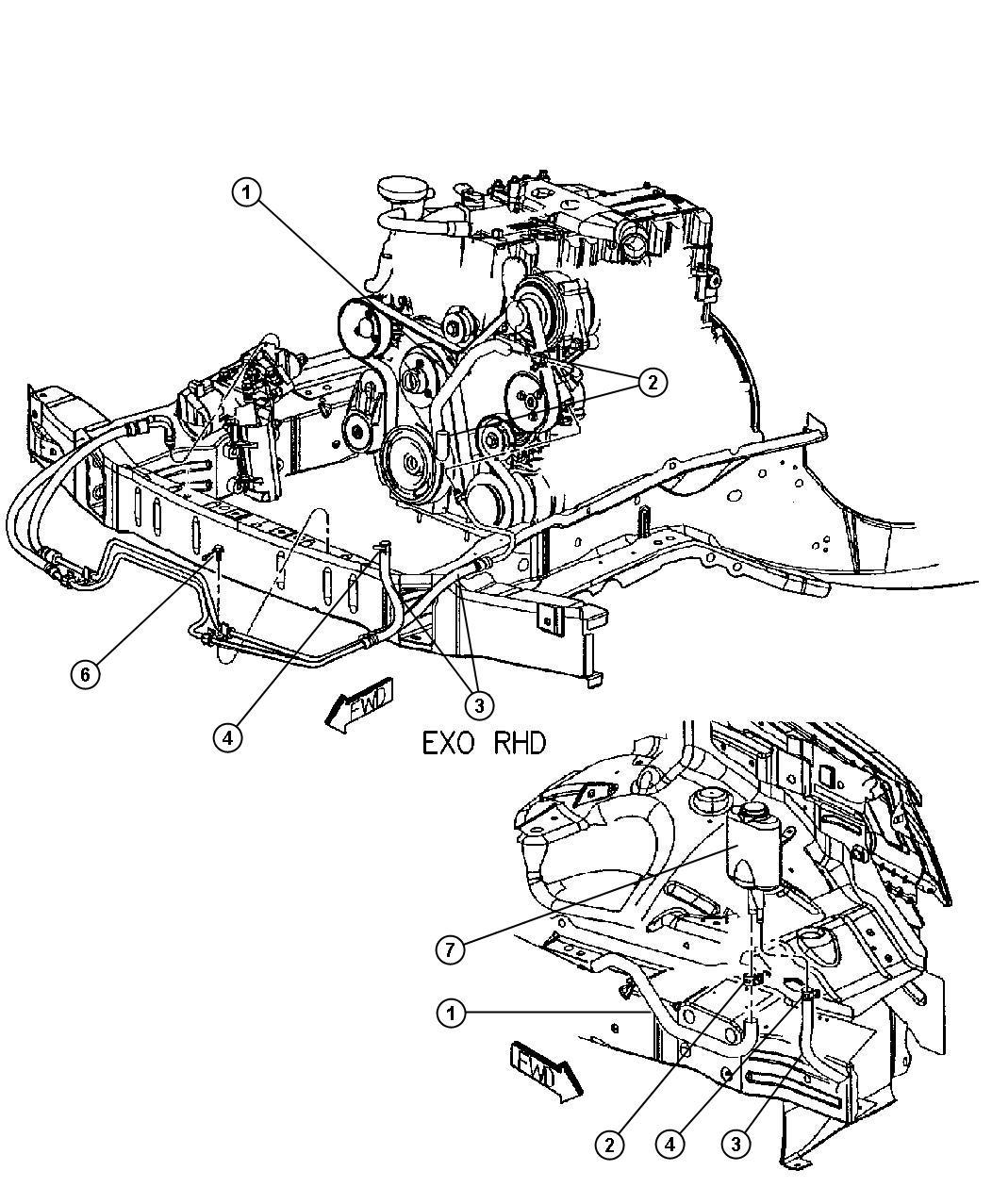 Dodge Caravan Reservoir Power Steering Pumpsel