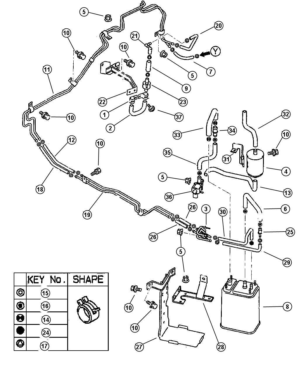 Dodge Avenger Clip Fuel Vapor Tube 10 0 Diameter