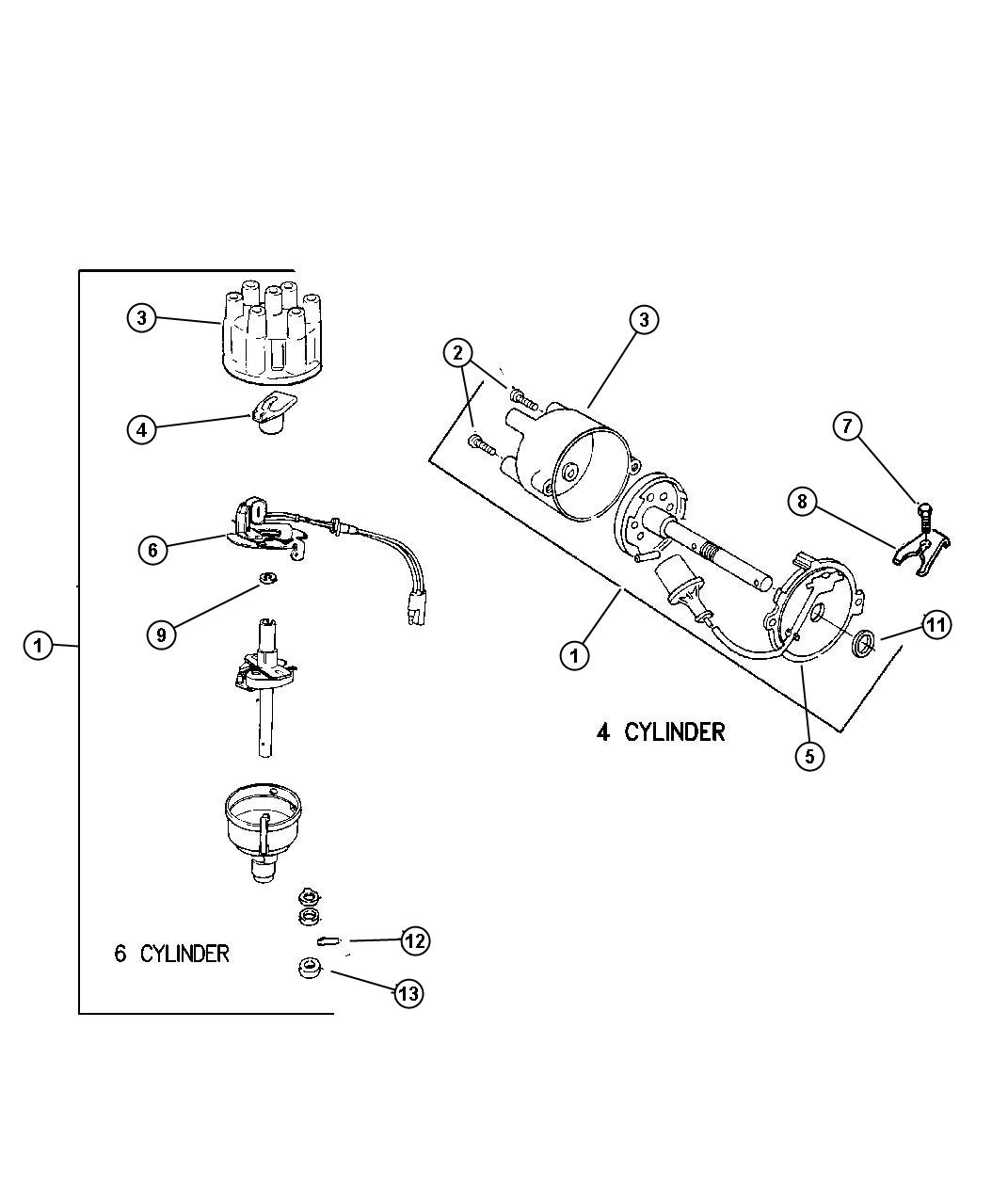 Dodge Neon Rotor Distributor Clutch Torque Converter